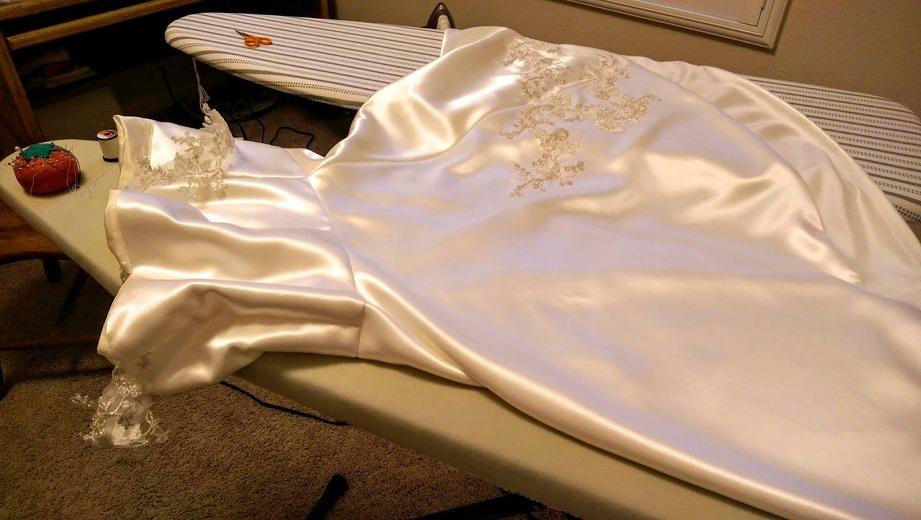sew a wedding skirt