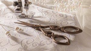 wedding dress sewing by self